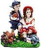 Статуэтка девочка с мальчиком цветная статуэтка 130х155х80