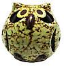 Подсвечник сова из керамики 100х100х100