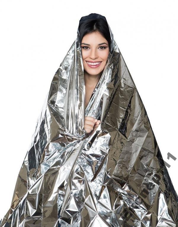 Термо одеяло накидка аварийного выживания спасения