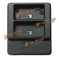 Двойной 2 батареи USB зарядное устройство для GoPro 3/3+ ahdbt-201/301