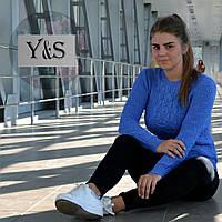 Стильный женский свитерок, фиалка, фото 1