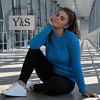 Стильный женский свитерок, лагуна, фото 1