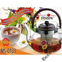 Заварник для чая из термостойкого стекла 1 литр