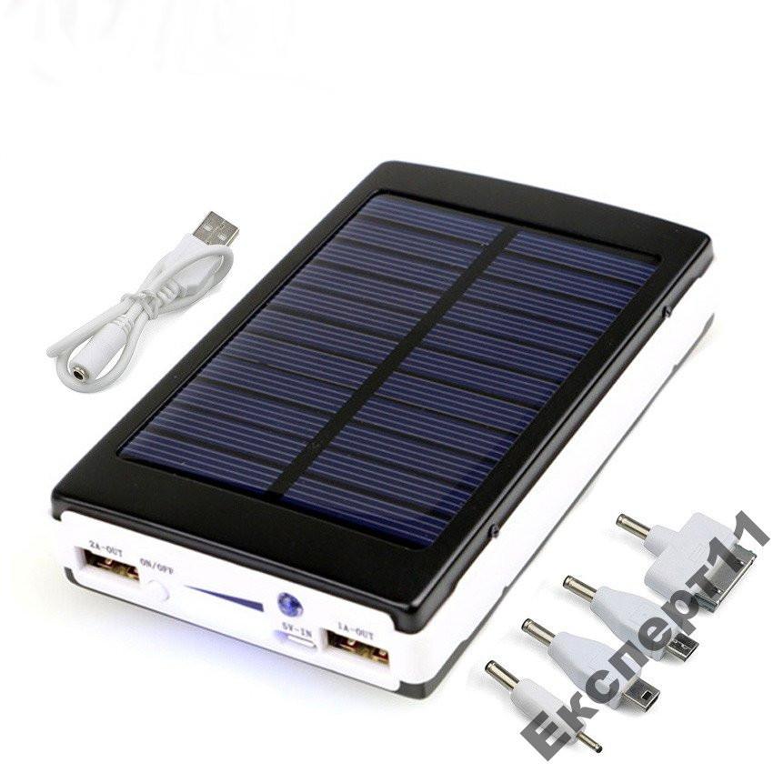 Зарядка Power Bank с солнечной  панелью 12000 mAh