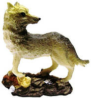 Статуэтка волк, шакал из пластика 80х80х30