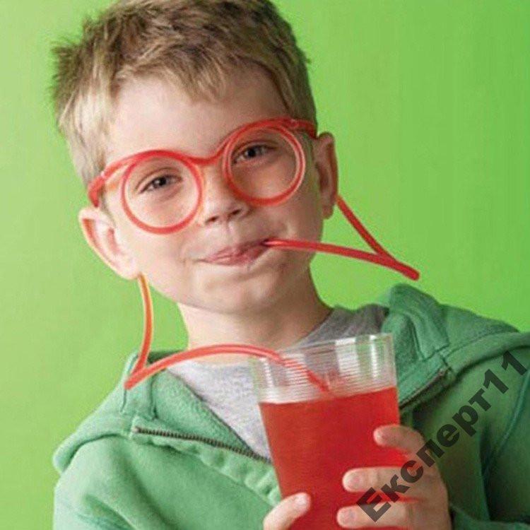 Смешные очки - для напитков ! - Дети в восторге!!!