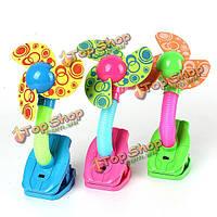 Мини безопасность Clip-на вентилятор для детских колясок прогулочные коляски тренажерные залы 3 цвета