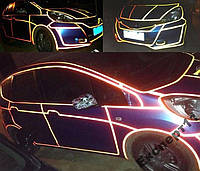 Лента светоотражающая для авто и мото 5 м х 1 см