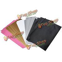 Мульти цвет углеродного волокна обложка дело кожи наклейка для ps4