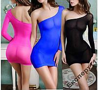 Сексуальное прозрачное Женское платье 3 цвета
