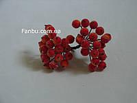 Искусственные засахаренные ягоды для декора красно-желтые d=1,2см (1 упаковка - 40 ягодок)