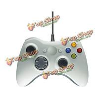 Белый проводной игровой контроллер джойстик джойстик для Xbox 360 USB-порту компьютера