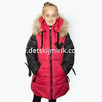 "Зимнее пальто для девочки ""Микс"" от производителя, новинки зима 2017"