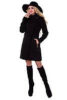 Женское черное осеннее кашемировое пальто арт. Эльпассо Турция элит 6688