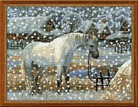 Набор для вышивания крестом «Снежная зима» (1245), Риолис