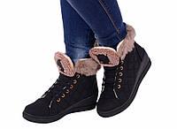 Ботинки женские зимние спортивные черные