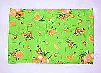 """Кухонное вафельное полотенце """"лимон-оливки""""салат 55х35см, фото 1"""