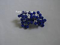 Штучні зацукровані ягоди для декору сині d=1,2 см (1 упаковка - 40 ягідок)