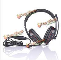 Проводная стерео геймерская наушники микрофон звук для сони плейстейшен пс3