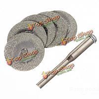 5шт 20мм алмазные отрезные диски ювелирные инструменты с одной оправке 2мм