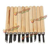 10шт деревянная ручка резьба Mini стамесок набор удобный набор режущих инструментов
