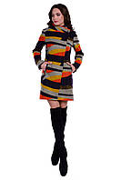 Стильное женское шерстяное пальто арт. Эльпассо принт шерсть 6202