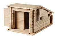 Деревянный конструктор бревнышки - Гараж 2 в 1 , фото 1