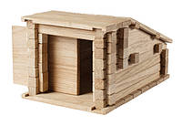 Деревянный конструктор бревнышки -  Гараж 2 в 1