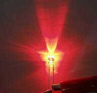 5мм светодиод красный 620нм, ультраяркий 2500-3000мКд, длинный 20град