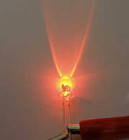 5мм светодиод желтый 590нм, яркий 1500мКд длинный 20град