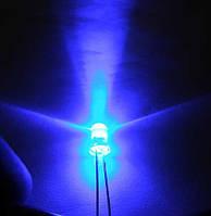 5мм светодиод синий 460нм ультраяркий 7000мКд 20°