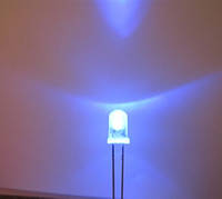 5мм светодиод  ультрафиолетовый 400-405нм, 20град. 300-400мКд
