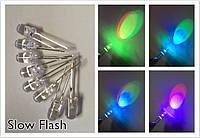 5мм светодиод  RGB медленно мигающий два вывода 20мА.