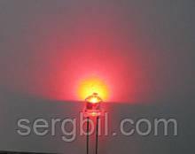 4.8мм светодиод красный яркий 620нм 400мКд 120°, корпус прозрачный