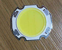 7Вт COB светодиод белый  6000К  90-100лм/Вт 300мА/23В подложка 27x24мм, фото 1