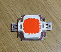 10Вт светодиод красный  12В, 500мА люминофор, супер эконом