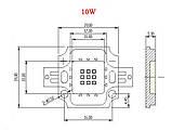 10Вт светодиод 20x20мм красный люминофор 500мА 10В супер эконом, фото 2