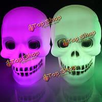 Хэллоуин светящиеся LED флеш череп ночник светильник подарок игрушка