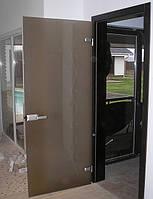 Стеклянные двери с рамой. Киев, купить