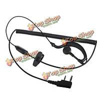 Микрофон гарнитура ушной крючок наушник для рации