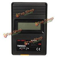 Цифровой ЖК-термометр с термопарой типа K зонд-50-750