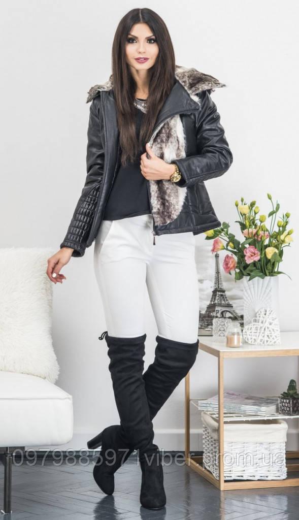 e89f29707172 Женская зимняя куртка из кожзама, цена 3 131 грн., купить в Львове ...