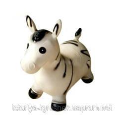 Резиновая зебра-прыгун 0002