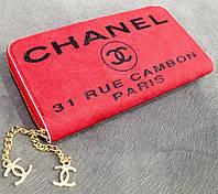 Кошелек брендовый женский Chanel шанель копия красный
