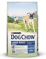 Сухой корм Dog Chow Adult Large Breed с индейкой для взрослых собак крупных пород 14 кг