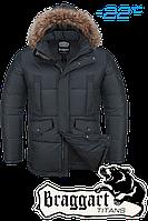 Куртка большого размера зимняя Braggart Titans - 2084B графит