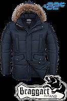 Куртка большого размера зимняя Braggart Titans - 2084A темно-синяя