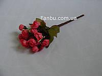 Искусственный  букет английской розы-нов (цвет ярко розовый)
