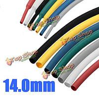 1м 14.0мм 7 цвет 2:1 полиолефиновой термоусадочной трубки трубки трубки обруча