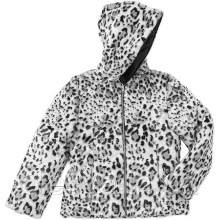 Куртка демисезонная принтованная с искусственным мехом 4-5 лет